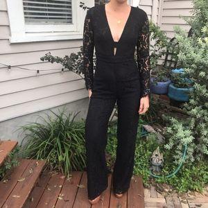 NWT Diane von Furstenberg Kyara Lace Jumpsuit